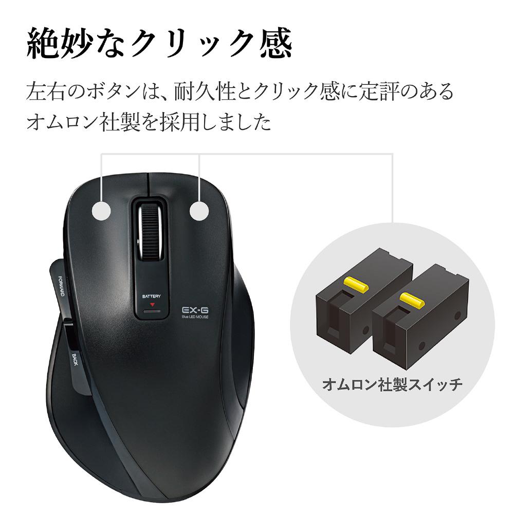 M-XGL10DBBK ワイヤレスマウス(BlueLED/2.4GHz/USB/5ボタン/ブラック/PS5対応) [無線マウス・ブルーLED方式]_6