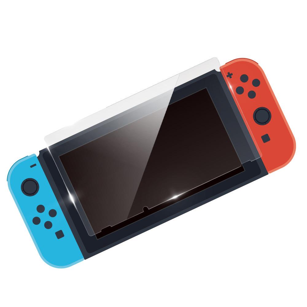 【ビックカメラグループオリジナル】 任天堂Switch用 ガラスフィルム ARコート対応 透明タイプ [BKS-NSG3AF]_1