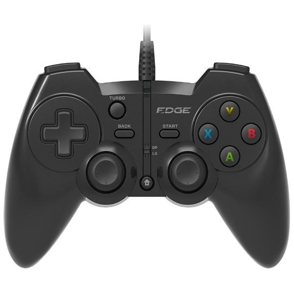 有線ゲームパッド[USB 1.8m・Win] EDGE 301 (13ボタン・ブラック) EGJ-301BK 【ゲームパッド】