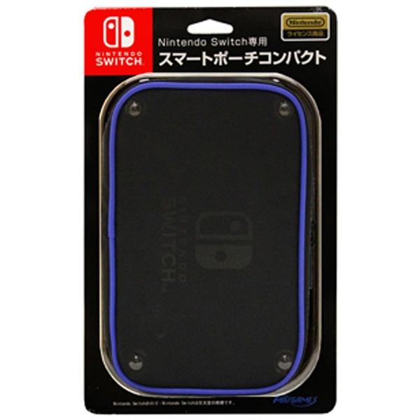 【在庫限り】 Nintendo Switch専用 スマートポーチコンパクト ブルー HACP-03BL[Switch]